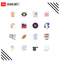 16 user interface flat color pack modern signs vector