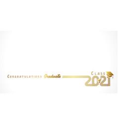 2021 congratulation graduate golden design white vector