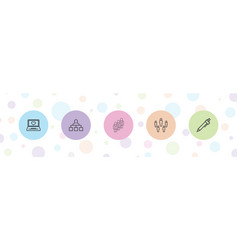 5 site icons vector