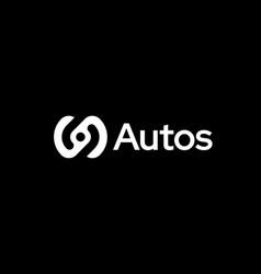 abstract steering wheel logo icon design modern vector image