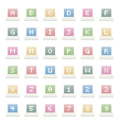 Alphabet icons vector