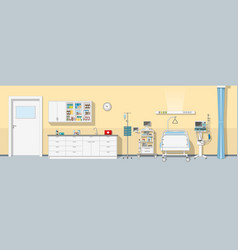 an intensive care unit panorama vector image