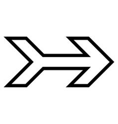 Arrow Right Thin Line Icon vector image