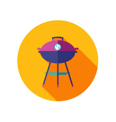 Barbecue grill icon summer holiday vector