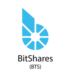bitshares cryptocurrency symbol vector image