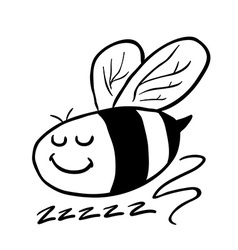 Black and white bee vector