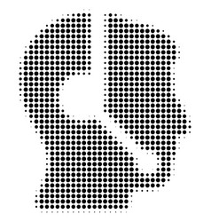 Black dotted call center operator icon vector