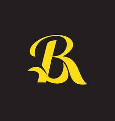 Br monogram symbol vector