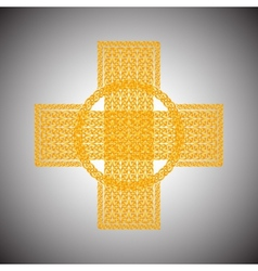 Celtic cross on a gray background vector image