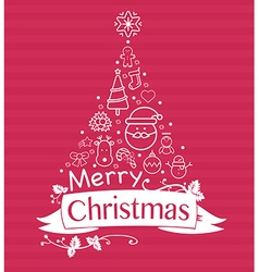 Christmas holiday flat design icons set vector image