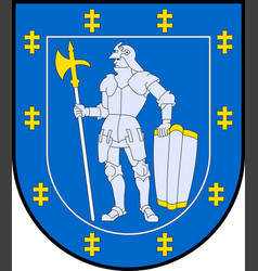 Coat of arms of alytus county in lithuania vector
