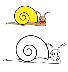 Color by example snail vector
