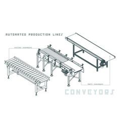 conveyors isometric view vector image