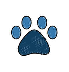 Dog footprint symbol vector