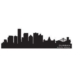 Durban south africa skyline detailed silhouette vector