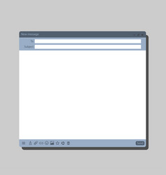 Email message interface vector