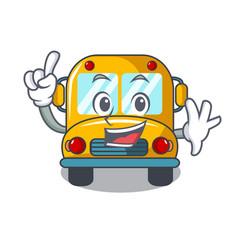 Finger school bus mascot cartoon vector