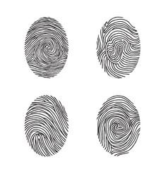 Fingerprint set abstract lswirl line decor vector