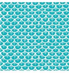 Fish Scales Seamless Pattern Cartoon Blue vector image