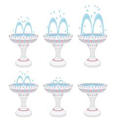Fountains vector