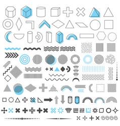 geometric trendy shapes set 110 elements vector image