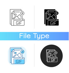 Gif file icon vector