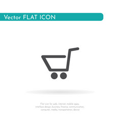 Grocery trolley icon for web business finance vector
