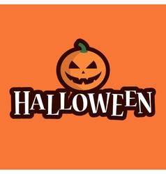 Halloween logo pumpkin vector