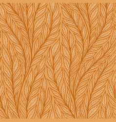 hand drawn pattern with decorative floral ornament vector image