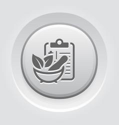 herbal medicine flat icon vector image