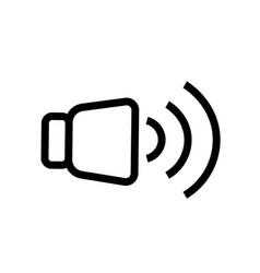 High level volume icon vector