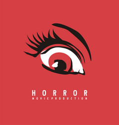 horror movie production business logo design vector image