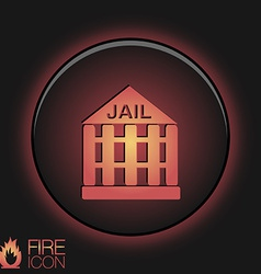 Icon prison symbol of justice police icon vector