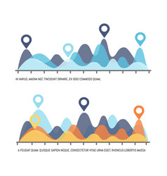 infographic visualization of results of research vector image