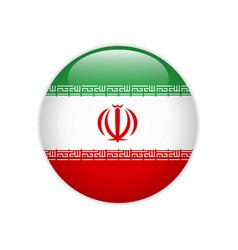 Iran flag on button vector