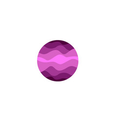 isolated abstract purple color round shape logo on vector image