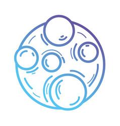 Line moon icon to planet satellite vector