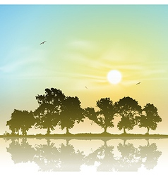 Line of Trees vector image
