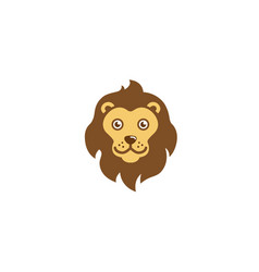 lion head cartoon character logo vector image