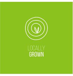 Locally grown targeting emblem vector