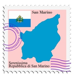 Mail to-from San Marino vector