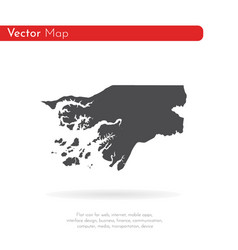 map guinea-bissau isolated vector image