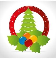 Merry christmas card design vector
