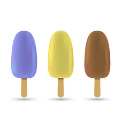 popsicle ice cream vector image