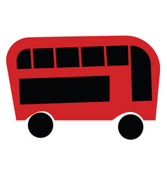 red and black double decker bus or color vector image