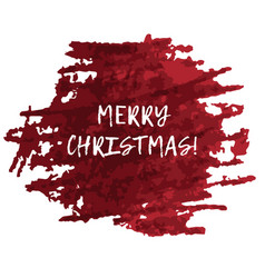 red splash blot with merry christmas text vector image