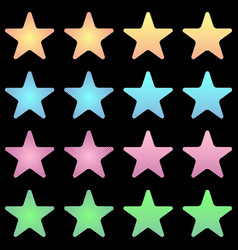 rounded star white star collection with stripes vector image