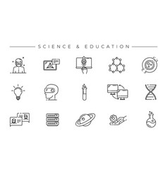 science and education concept line style vector image