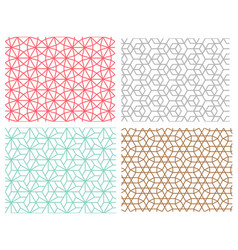 seamless pattern in mesh style hexagon concept vector image