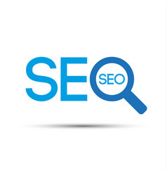 search engine optimization logo vector image